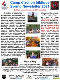 2021 Spring newsletter thumbnail.